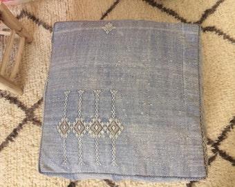 Handmade  kilim Moroccan berber ottoman  pouf