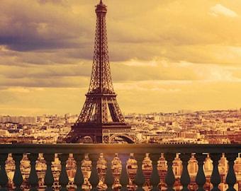 France Sunset Paris Eiffel Tower Photography Studio Backdrop Background