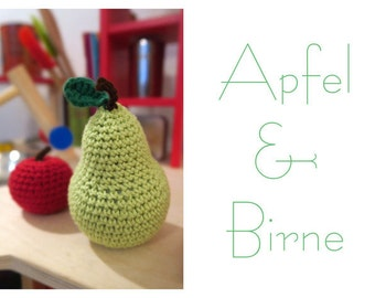Crochet food - apples & pears