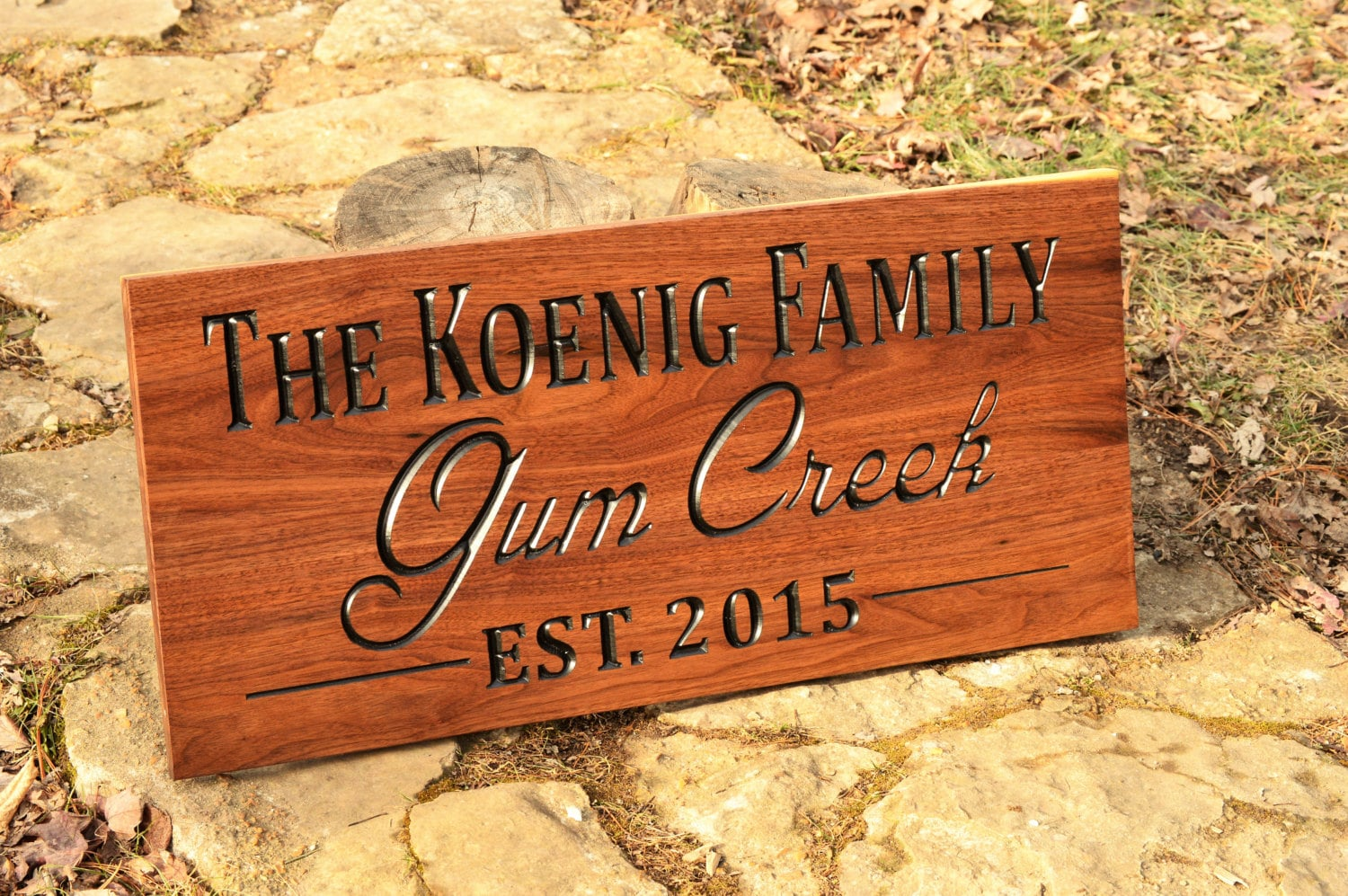 Custom Outdoor Farm Estates Name Sign Outdoor Wood Yard Sign
