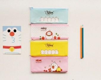 Kawaii/ Cute Molang PVC mesh pencil case/ pouch