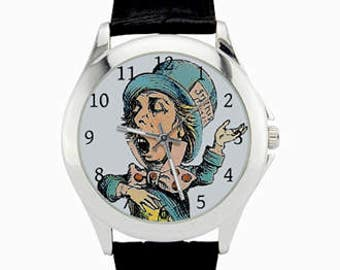 Mad Hatter Watch - Alice in Wonderland Watch - Mad Hatter Art Wrist