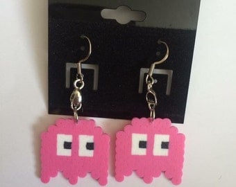 Pink Pacman Earrings