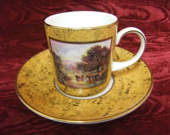 Pretty Coalport Limited Edition 'The Pastoral Coffee Cup'