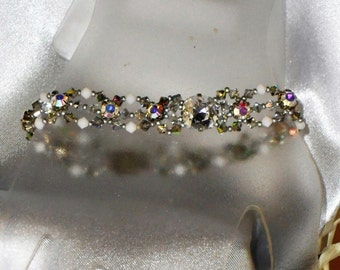 River white, silver, transparent Svarovski Crystal bracelet