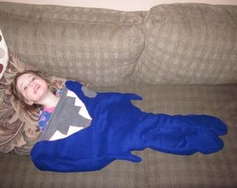 fleece shark bite blanket toddler sleeping bag camping bag christmas present sleepover
