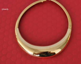 Vintage Givenchy Choker, Gold Tone, Givenchy Paris New York, 16 Inch Gold Choker, Vintage Choker, Givenchy Necklace, DB19