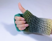 Fingerless crochet gloves...