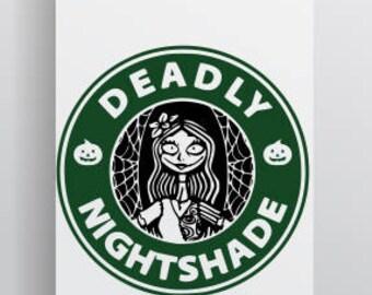 Jack And Sally SVG; Sally SVG; Nightmade before Christmas SVG; Starbucks inspired Sally logo