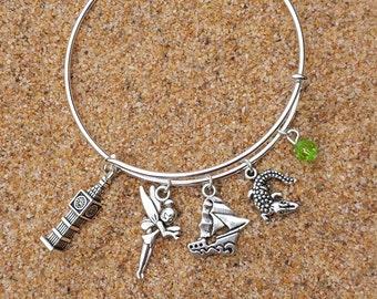 Peter Pan Tinkerbell Adjustable Charm Bracelet