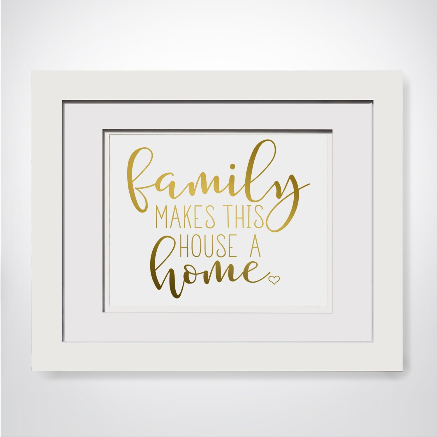 Family Makes This House A Home|Blended Family Gift Ideas|Family Wall ...