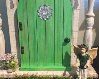 Miniature Fairy Door, Spring Collection Fairy Door, Gnome Door, Miniature Door, Garden Door, Glow In The Dark Door