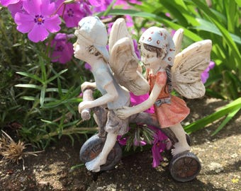 Miniature Garden Fairy, Miniature Fairy, Fairy Garden, Terrarium Garden, Flower Pot Garden, Gardening Fairy, Fairies on Bike