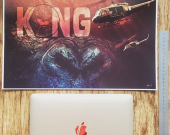 KONG A3  fine art print ideal for framing SKULL ISLAND king kong