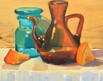 Colorful Original Handpainted Still Life