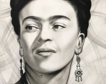 Frida Kahlo - Print of Original Drawing bu Sarah Steigers