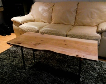 Live Edge Coffee Table -Western Red Cedar - Free Shipping