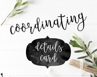 Coordinating Details Card to any Key Paper Company Design - Matching Details Card to any Key Paper Company Design -