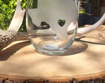 Set of 4 Texas wine glasses