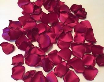 Wine Rose Petals/Satin Rose Petals/Burgundy Rose Petals/Bridal Petals/Burgundy Wedding Decor/Red Rose Petals/Rose Petals/Wedding Petals