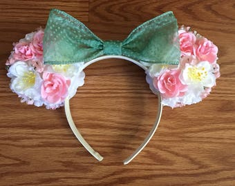 Springtime inspired Floral Ears (Double-Sided)