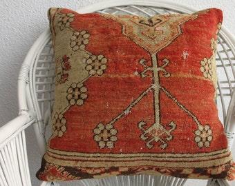 giant floor pillow washable pillow cover 24x24 carpet pillow cover ethnic cushions hand woven carpet cushion 24x24 orange pillow 720
