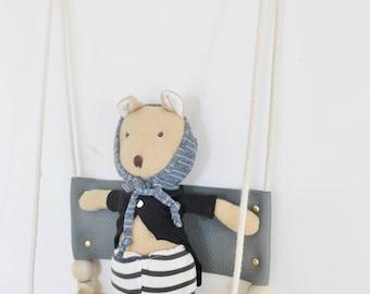 Nicholas Alexander Leather Swing Shelf