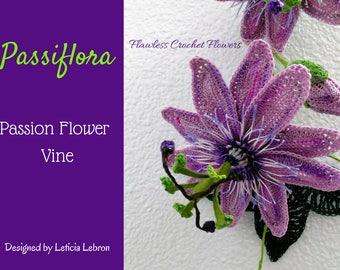 Passion Flower Pattern, Passion Flower Plant, Crochet Flowers, Passion Vine