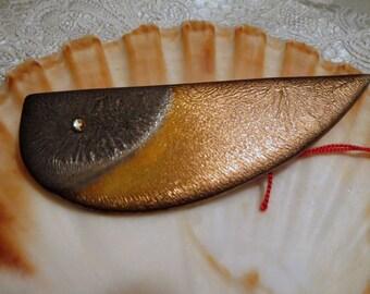 Ceramic brooch, Vintageschmuck from winding ceramics, handmade, Vintageschmuck, ceramic jewellery