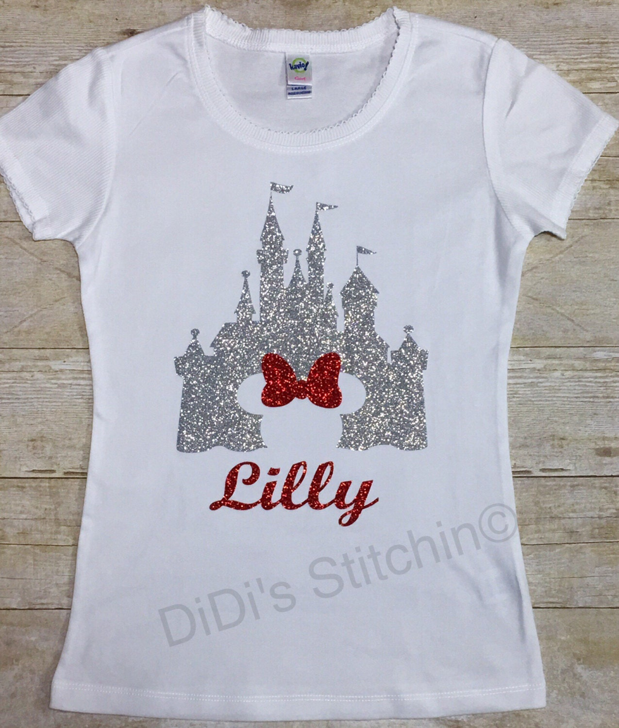 Disney castle cinderella castle kids disney shirts custom for Where can i order custom t shirts