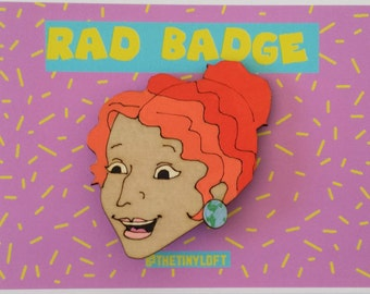 Ms Frizzle Brooch, Magic School Bus, Portrait, Made in Australia