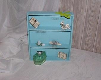 Ancient small box as mini shelf or cutlery box