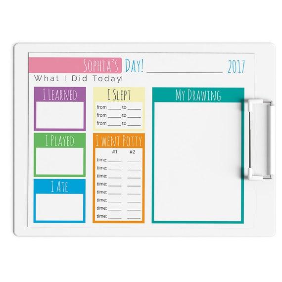 nanny planner log babysitter printable daily tracker