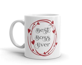 11 oz Coffee Mug: Best Boss Ever