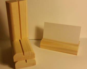 10 Wooden Place Card / Business Card  Holders