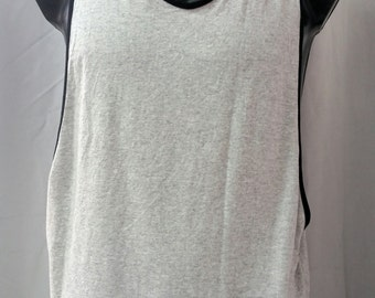 active wear TANK muscle SHOWOFF grey / black trim