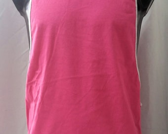 active wear TANK muscle SHOWOFF pink / grey trim