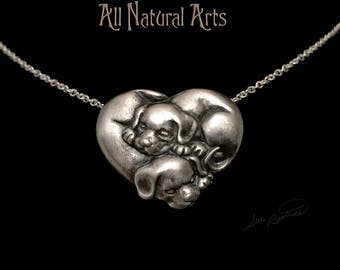 Intertwined Canines (925 Sterling Silver)