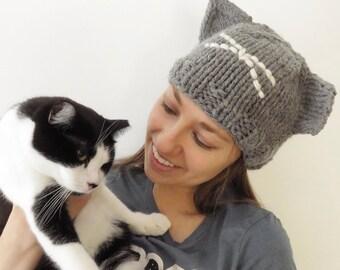 Friend of Ferals Hat, feral cat awareness, kitty ear hat, ear tip