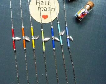 Titanium and Miyuki Beads Bracelet