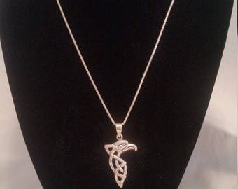 Sterling Silver Celtic Knot Eagle Head
