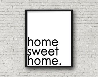 Home Sweet Home, Home Sign, Printable Art, Kitchen Sign, Home Decor, Kitchen Decor, Wall Art, Printable Quote, Wall Art Sign, Printable Art