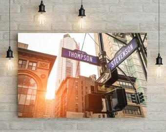Custom Manhattan Sunset Street Sign Art