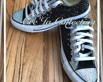 Kids Custom Converse, Kids Bling Converse, Kids Bling Chucks, Kids Bling All Stars, Bling Converse, Bling Baby Shoes