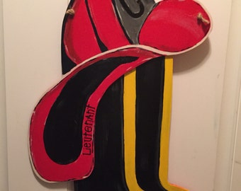 Firehat and boots doorhanger