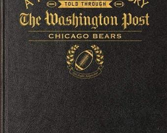 Washington Post Chicago Bears Football Book - Leather