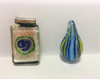 Glass pendant, glass, pendant, jewelry supply, craft supply, glass jewelry supply