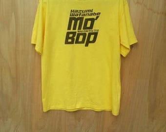 30% SALE Rare Kazumi Watanabe New Electric Trio Mo' Bop T-shirt Signed by Kazumi Watanabe