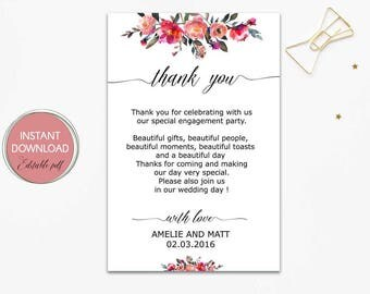 Thank you letter etsy wedding thank you letter wedding thank you notes personalized thank you cards thank stopboris Images