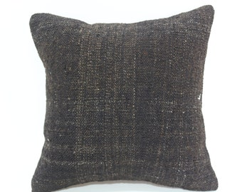 16x16 Turkish Cushion Bohemian Kilim Pillow Home Decor 16x16 Black Kilim Pillow Fllor Pillow Cushion Cover SP4040-2051